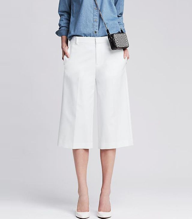 Banana Republic Sleek Wide-Leg Gaucho Pants