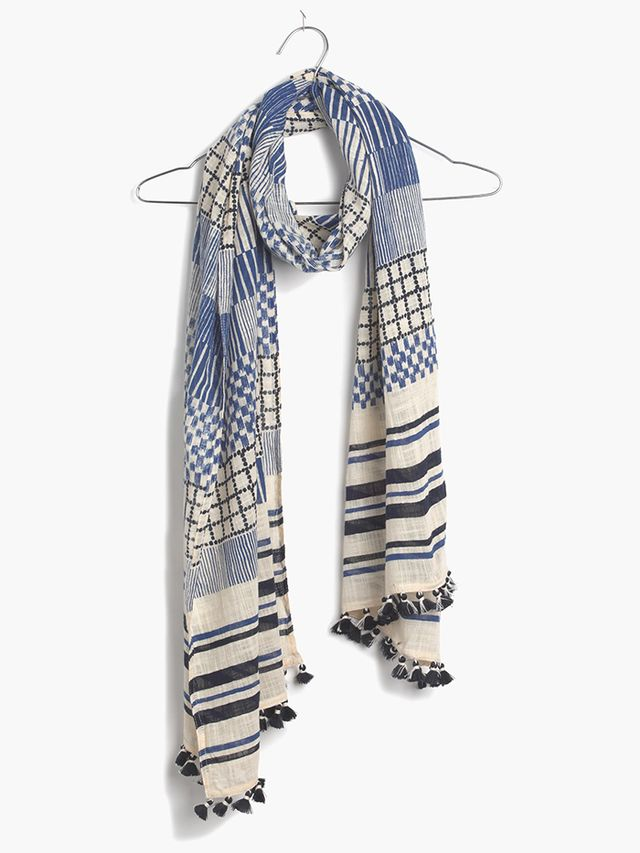 Madewell Patchwork Striped Scarf