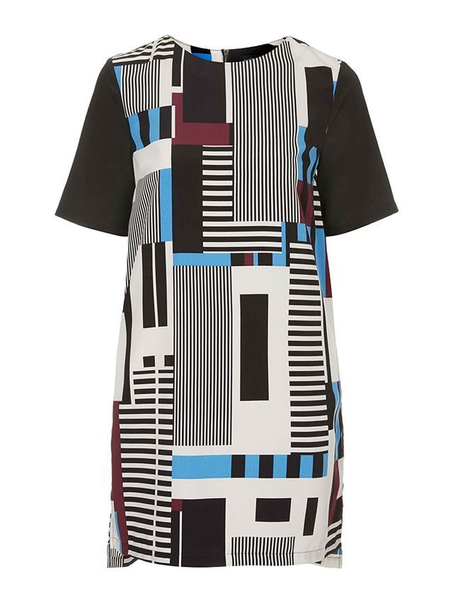 Topshop Stripe Print Tunic Dress
