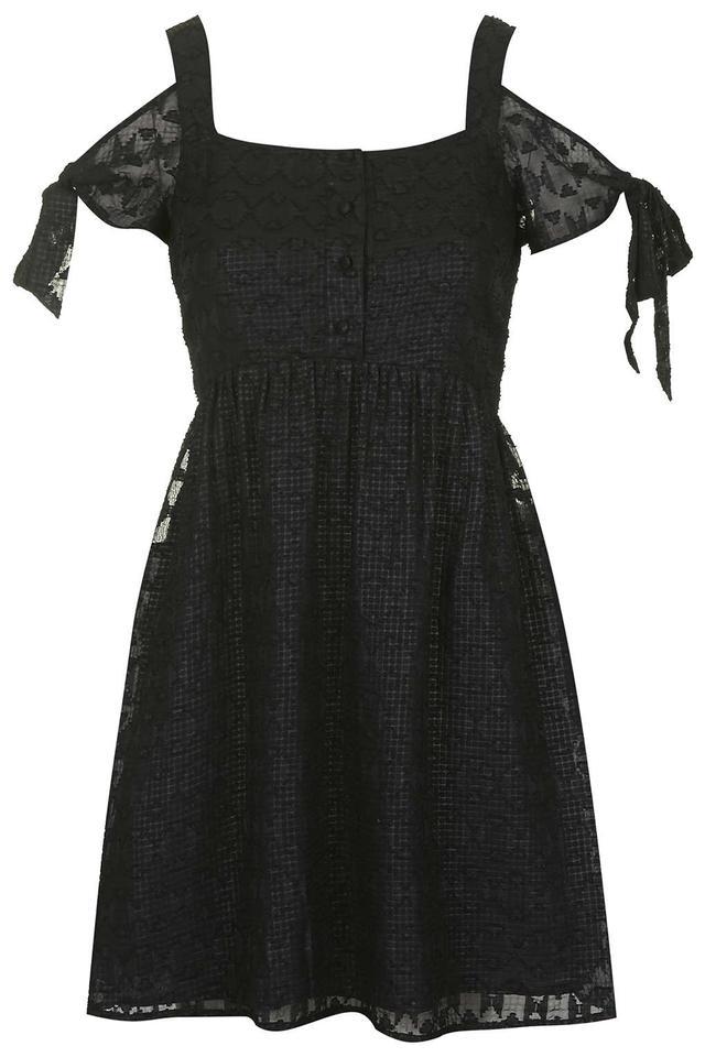 Topshop Burnout Cold Shoulder Dress