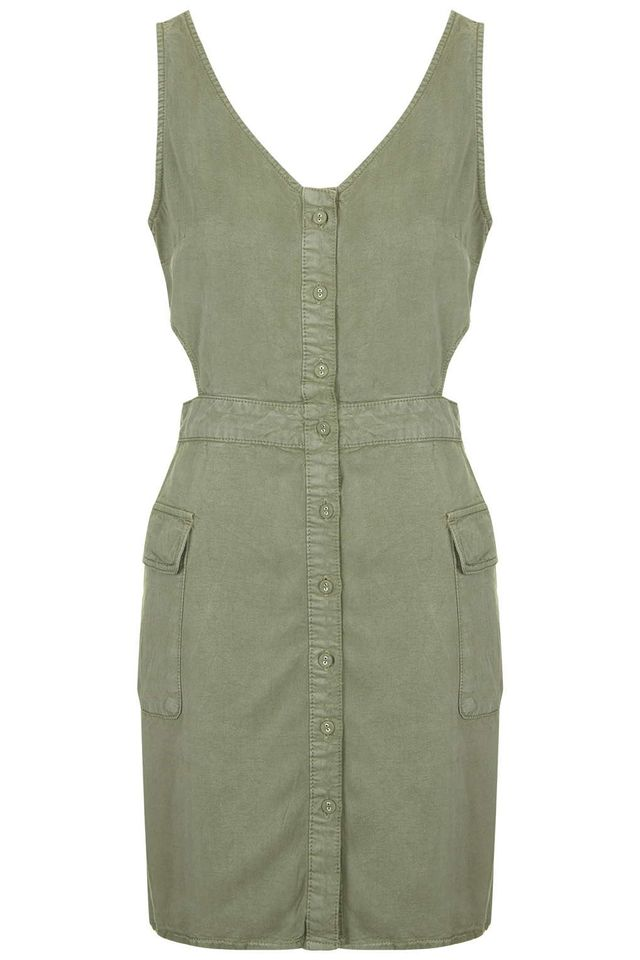 Topshop Cut-Out Military Dress