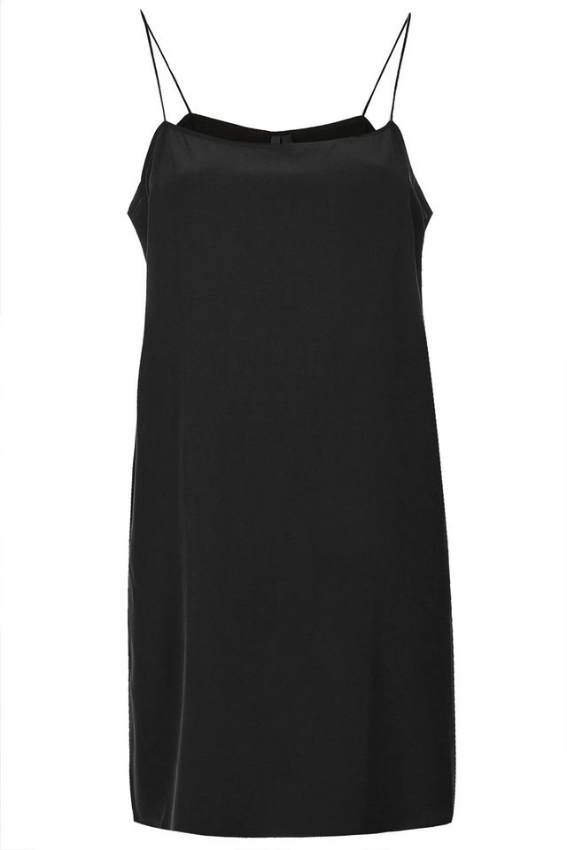 Topshop Sandwashed Silk Slip Dress