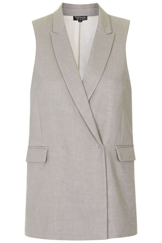 Topshop Premium Bonded Sleeveless Jacket