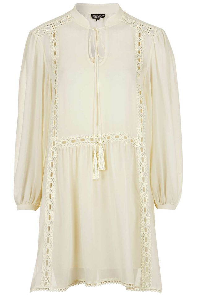 Topshop Tassel Smock Dress