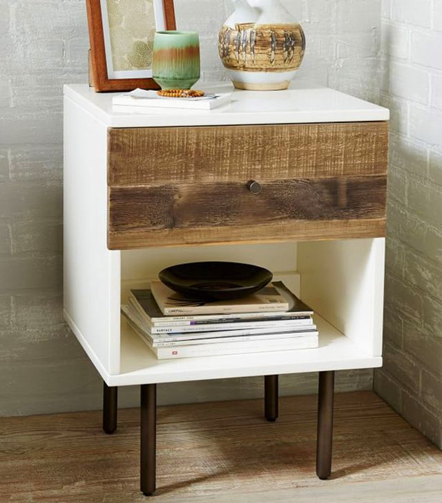 West Elm Reclaimed Wood and Lacquer Nightstand