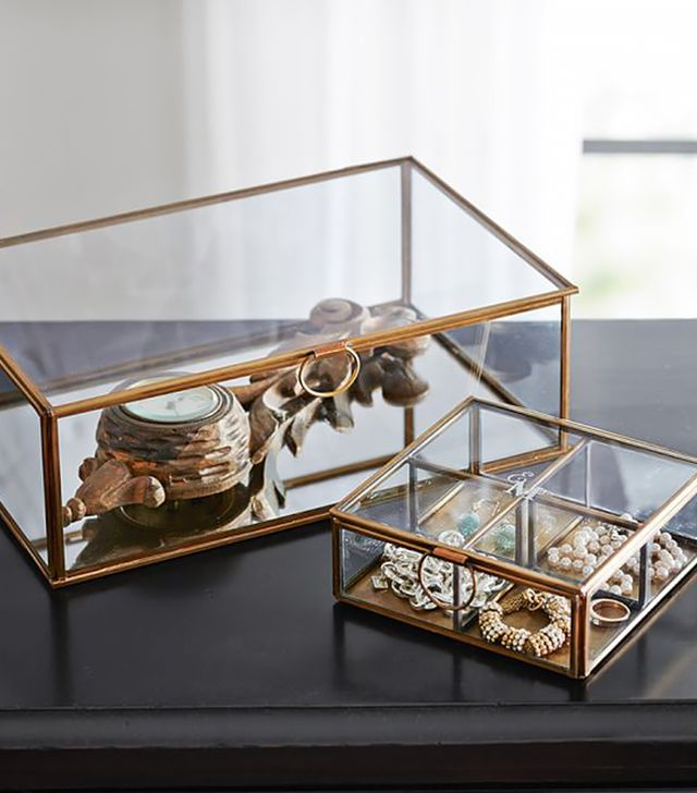 Pottery Barn Callie Glass Boxes
