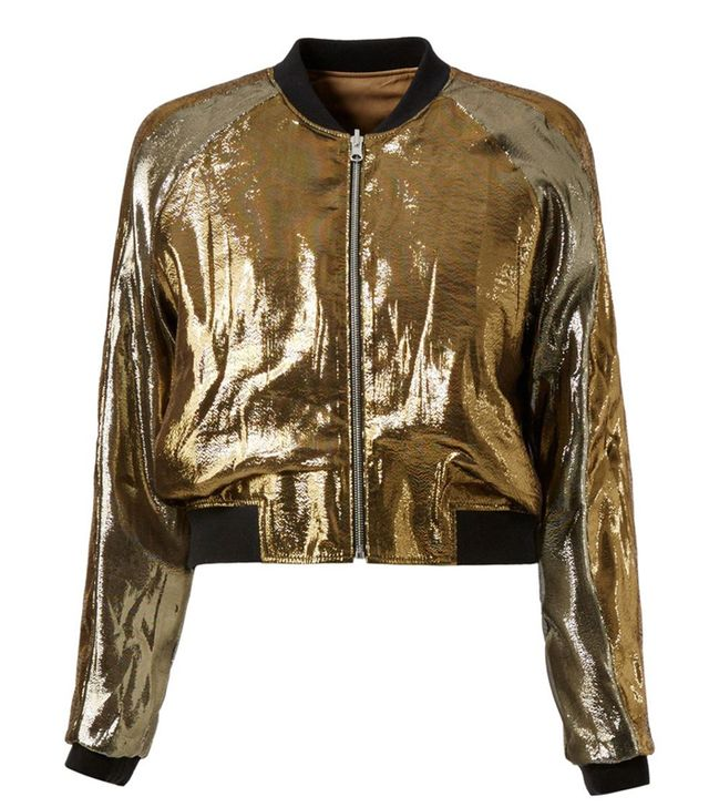 Faith Connexion Metallic Bomber Jacket