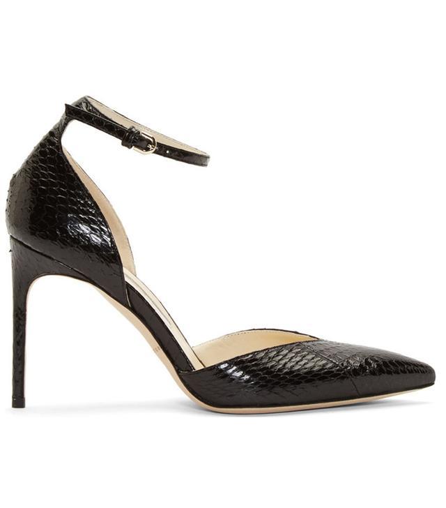 Brian Atwood Snakeskin Lisette D'Orsay Heels