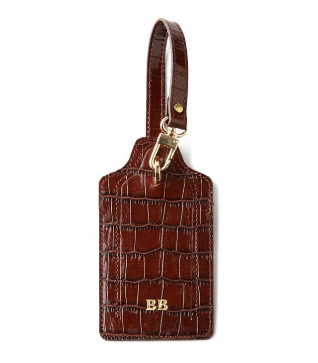 Abas Crocodile-Embossed Luggage Tag