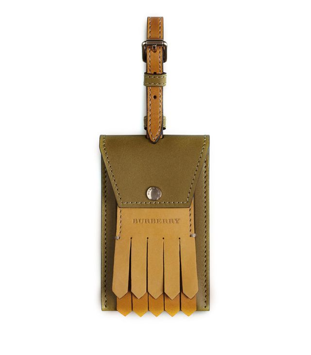 Burberry Leather Luggage Tag