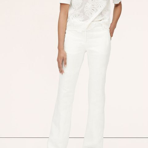 Tall Leg Linen Wide Leg Trousers