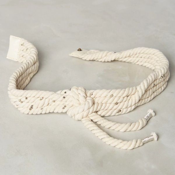 Anthropologie Braided Rope Belt