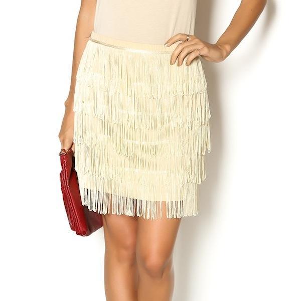Tulle Fringe Skirt