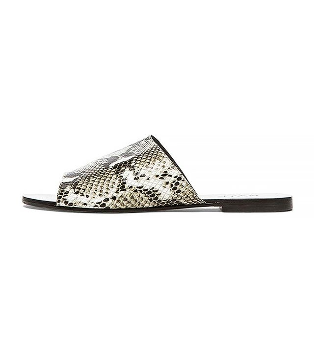 Raye Sienna Slide Sandals, Grey Python