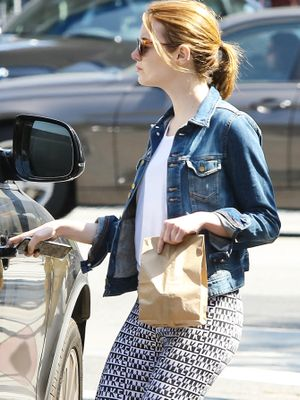 Emma Stone Is Obsessed With This Under-$100 Denim Jacket
