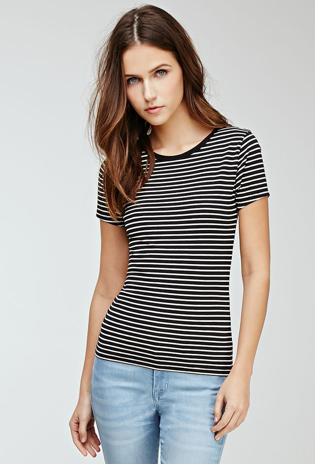 Forever 21 Classic Striped Top