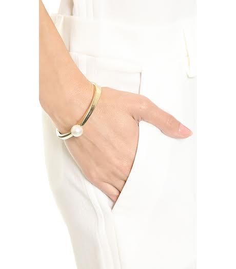 Adia Kibur Imitation Pearl Bangle Bracelet