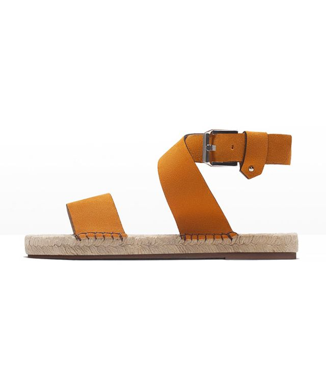 Zara Leather Espadrille Sandals