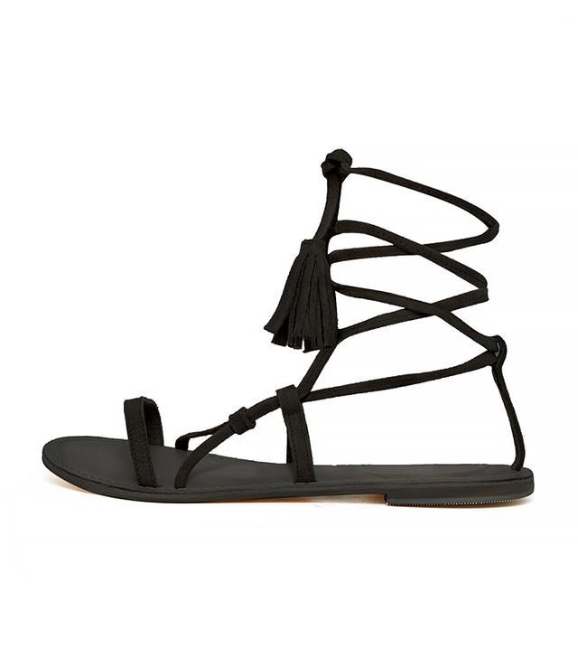 ASOS Flo Suede Tie Leg Sandals