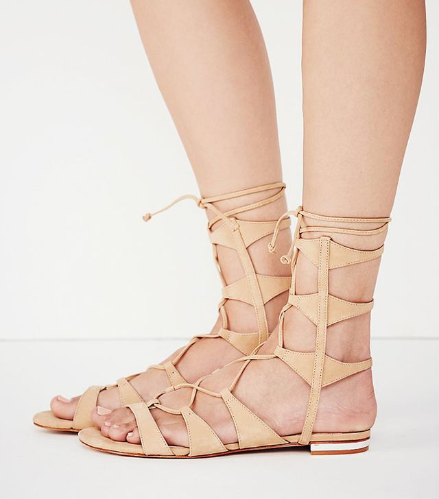 Schutz Lina Lace Up Gladiator Sandals