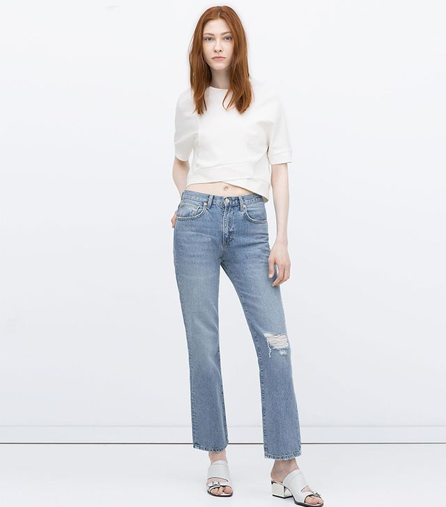 Zara Straight Cut High Waist Jeans