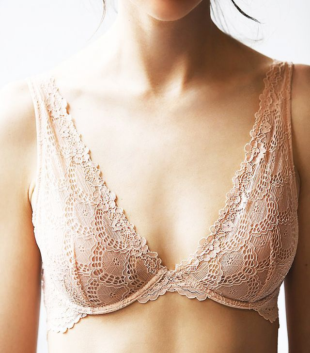 Free People Lace Plunge Underwire Bra