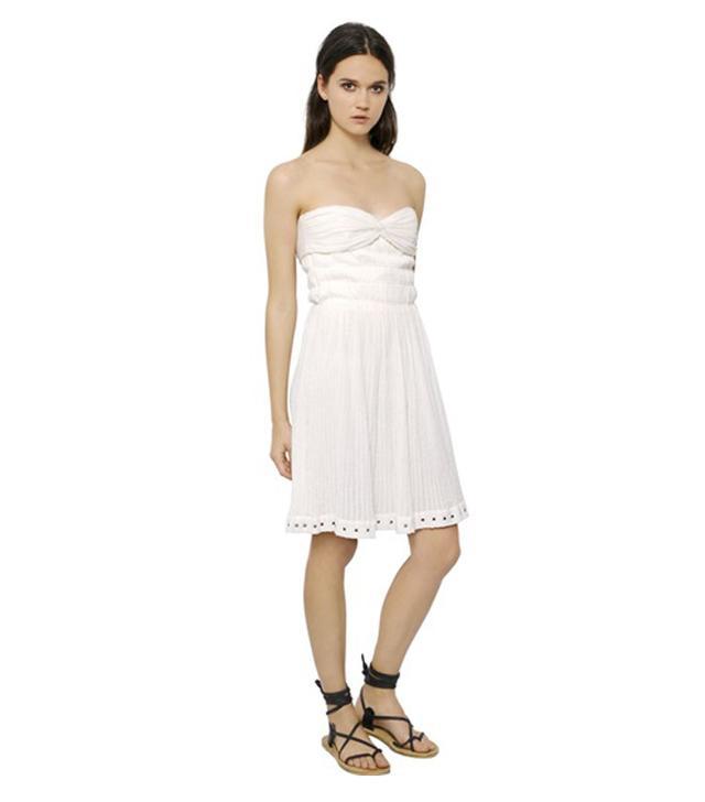 Isabel Marant Étoile Strapless Cotton Gauze Bustier Dress