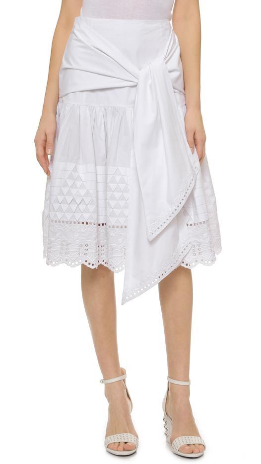 Suno Tie-Front Skirt