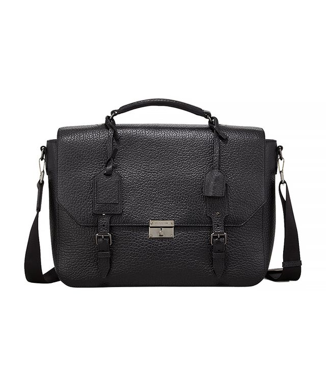 Burberry Leather Satchel Briefcase