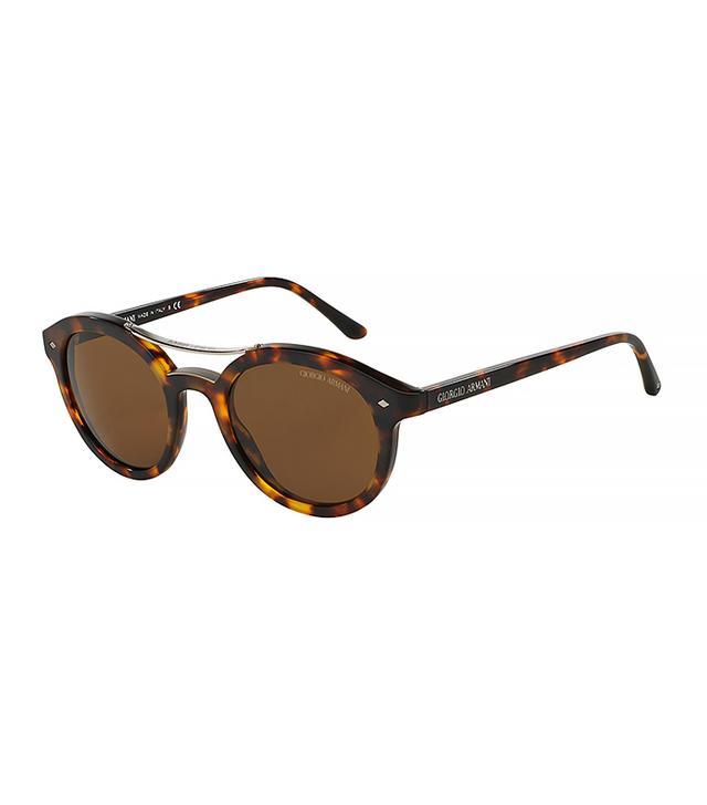 Giorgio Armani Panto Full-Rim Acetate Sunglasses