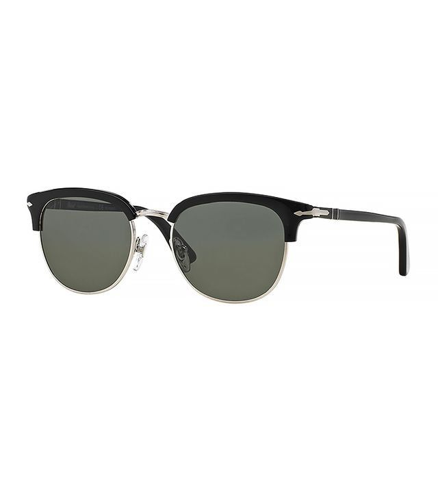 Persol Cellor Half-Rim Polarized Acetate Sunglasses