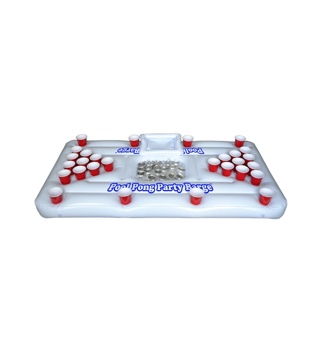 GoPong Inflatable Pool Pong Table and Floating Cooler