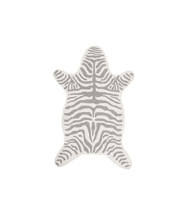 Pottery Barn Kids Zebra Shaped Rug