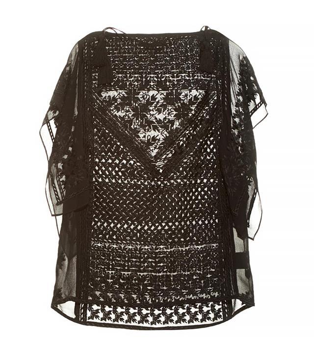 Isabel Marant Allen Embroidered Silk Top