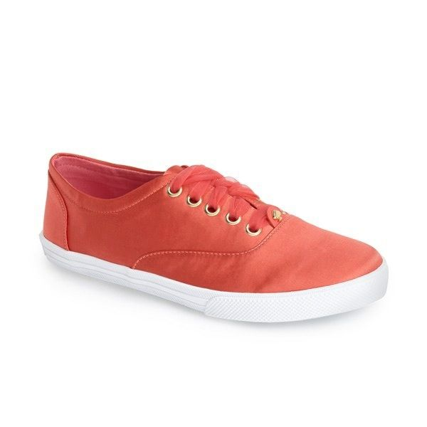 Kate Spade New York Lorana Satin Lace-Up Sneakers