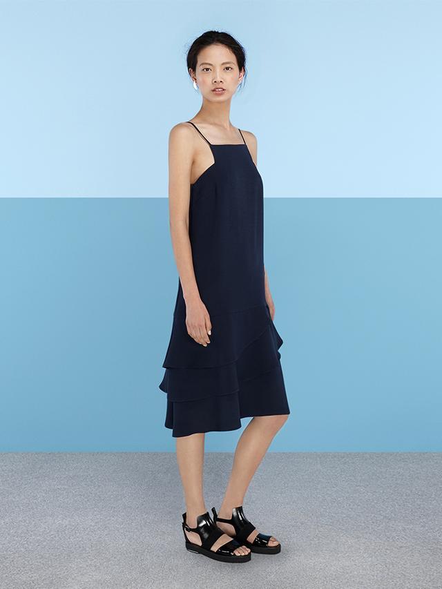 Finery London Elverson Ruffle Hem Cami Dress