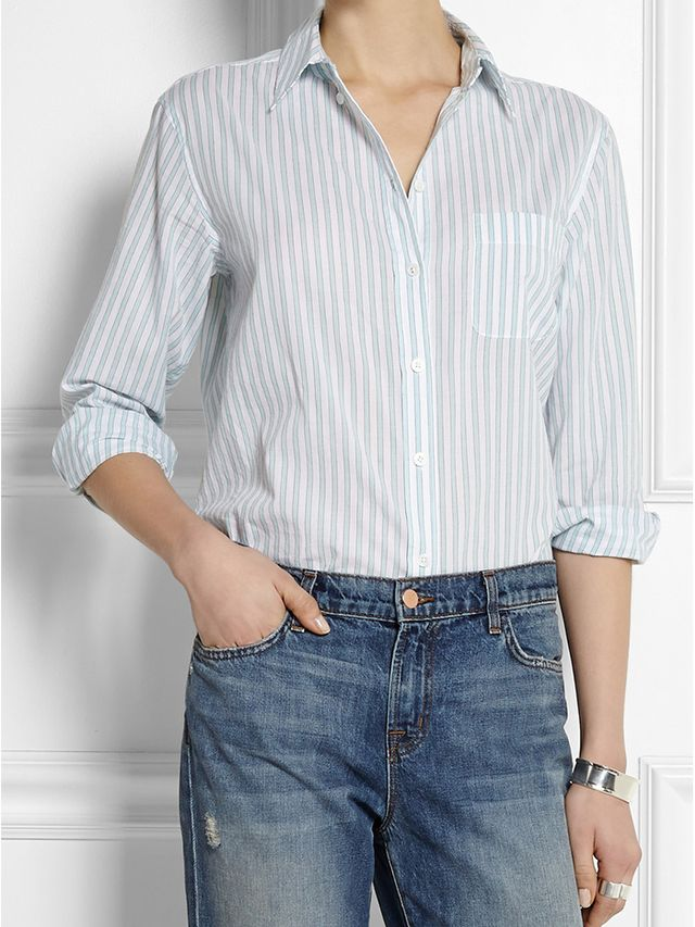 Equipment Margaux Striped Cotton Shirt