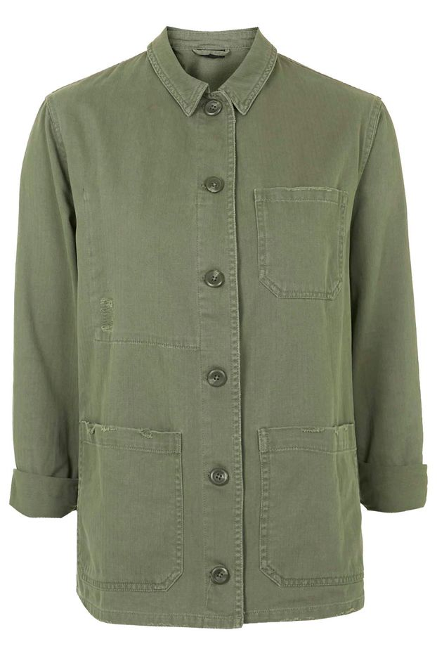 Topshop Utility Shirt Jacket