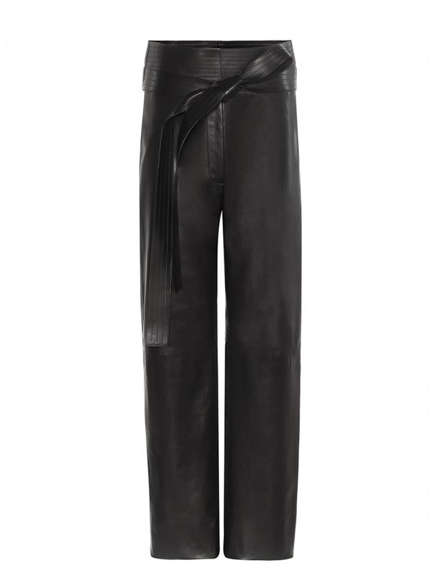 Loewe Judo Wide-Leg Leather Trousers
