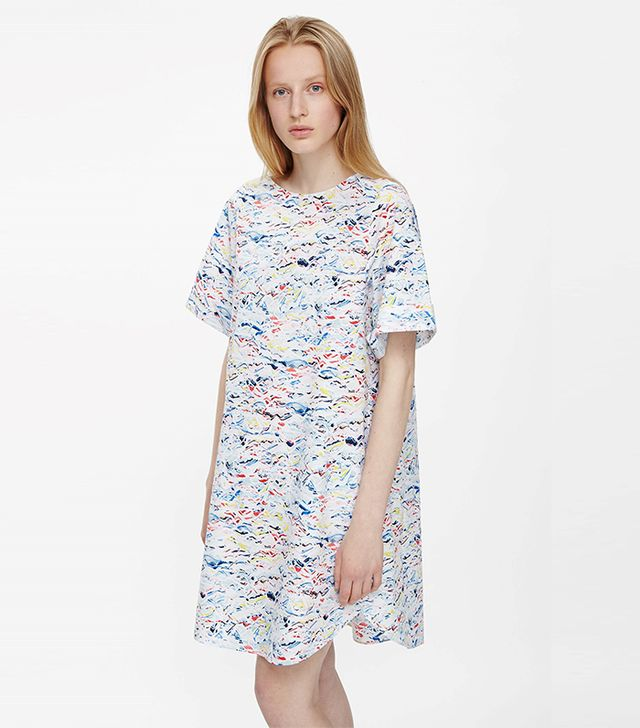 COS Pleat-Back Printed Dress