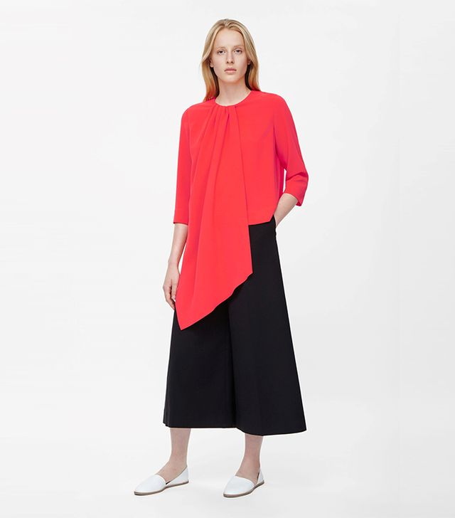 COS Draped Asymmetric Top