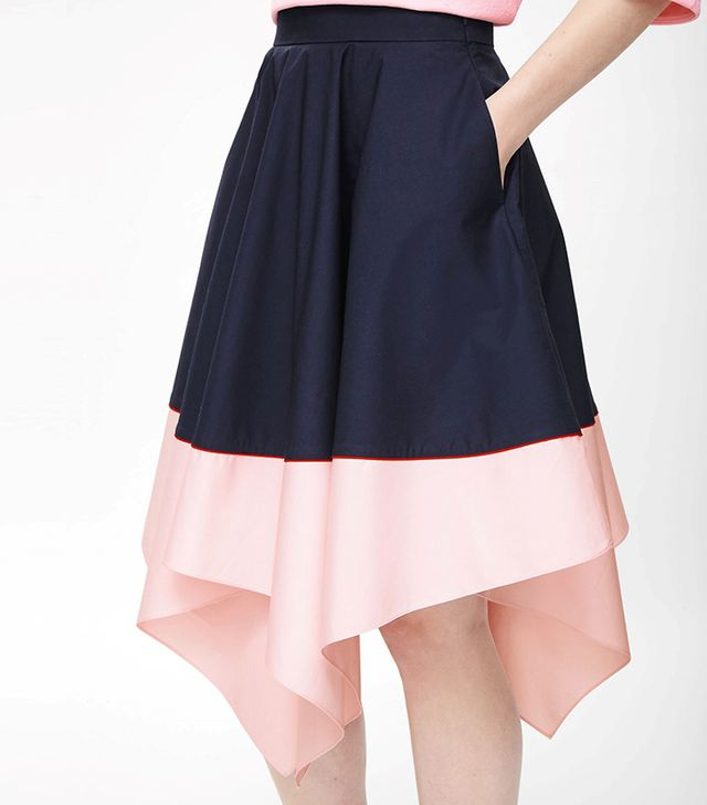 COS Contrast Asymmetric Skirt