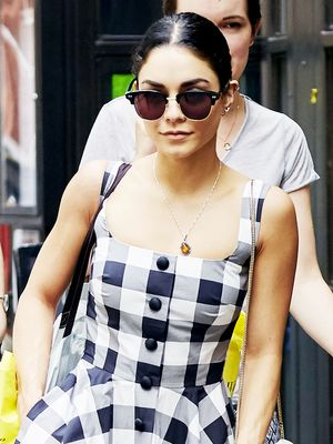 Vanessa Hudgens Embraces the Gingham Trend