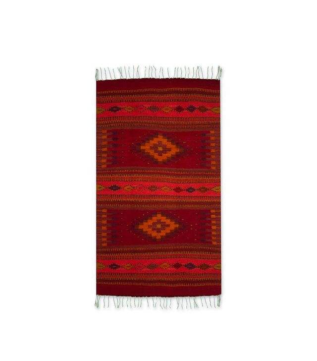 Authentic Zapotec Handwoven Wool Rug