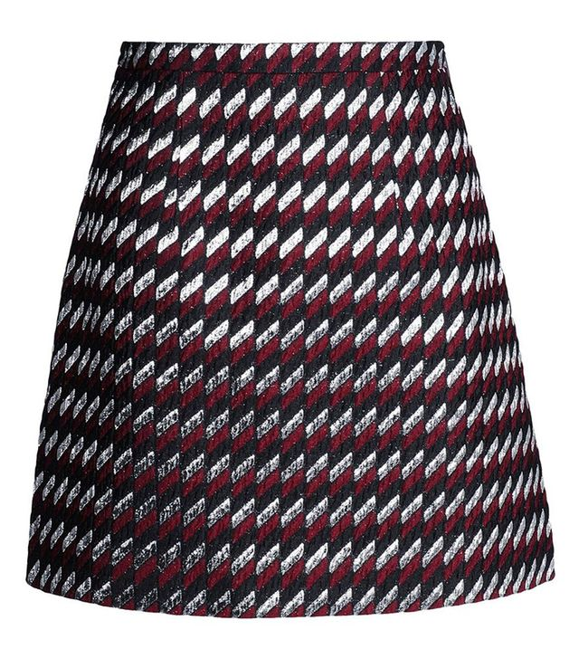 Christopher Kane Geometric Jacquard Mini Skirt