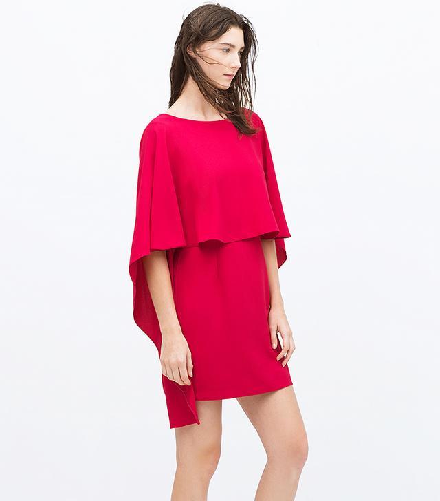 Zara Cape Dress with Low Back