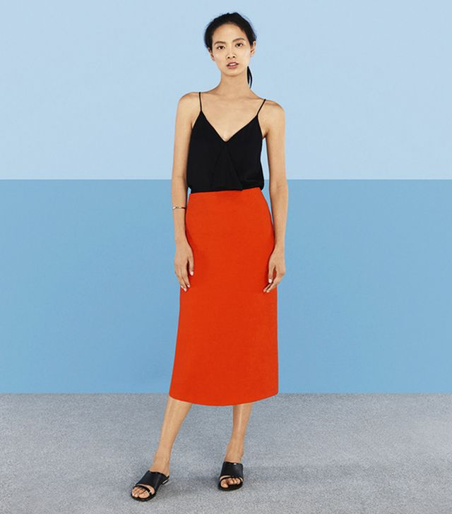 Finery Hanbury Crinkle Pencil Skirt