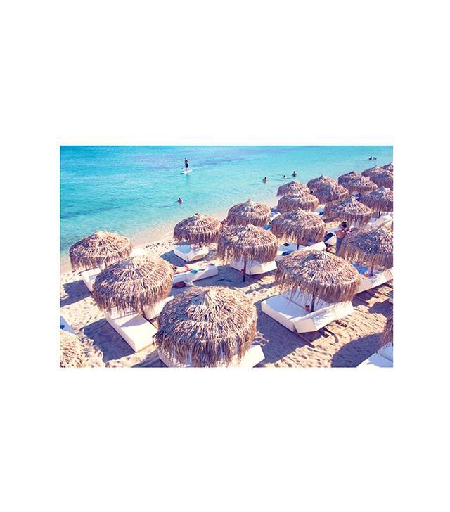 Psarou Beach, Mykanos Print