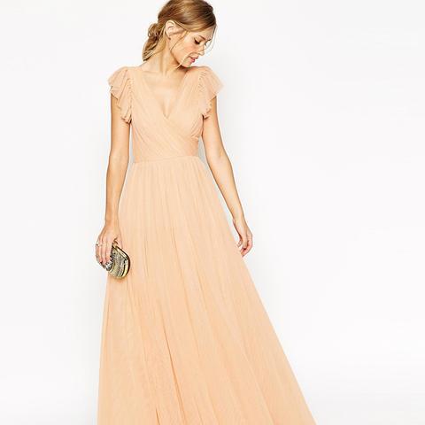 Premium Princess Mesh Maxi Dress