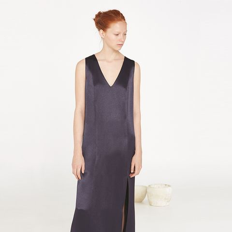 Premium-Satin Shift Dress
